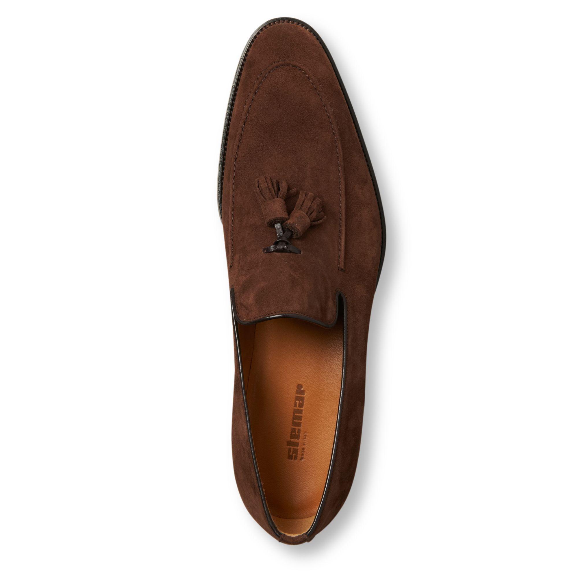 Stemar Apron Tassel Loafers in Brown for Men