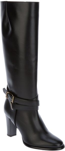 Burberry Buckle Detail Boot in Black