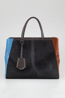 Fendi 2jour Calf Hair Tote  - Lyst