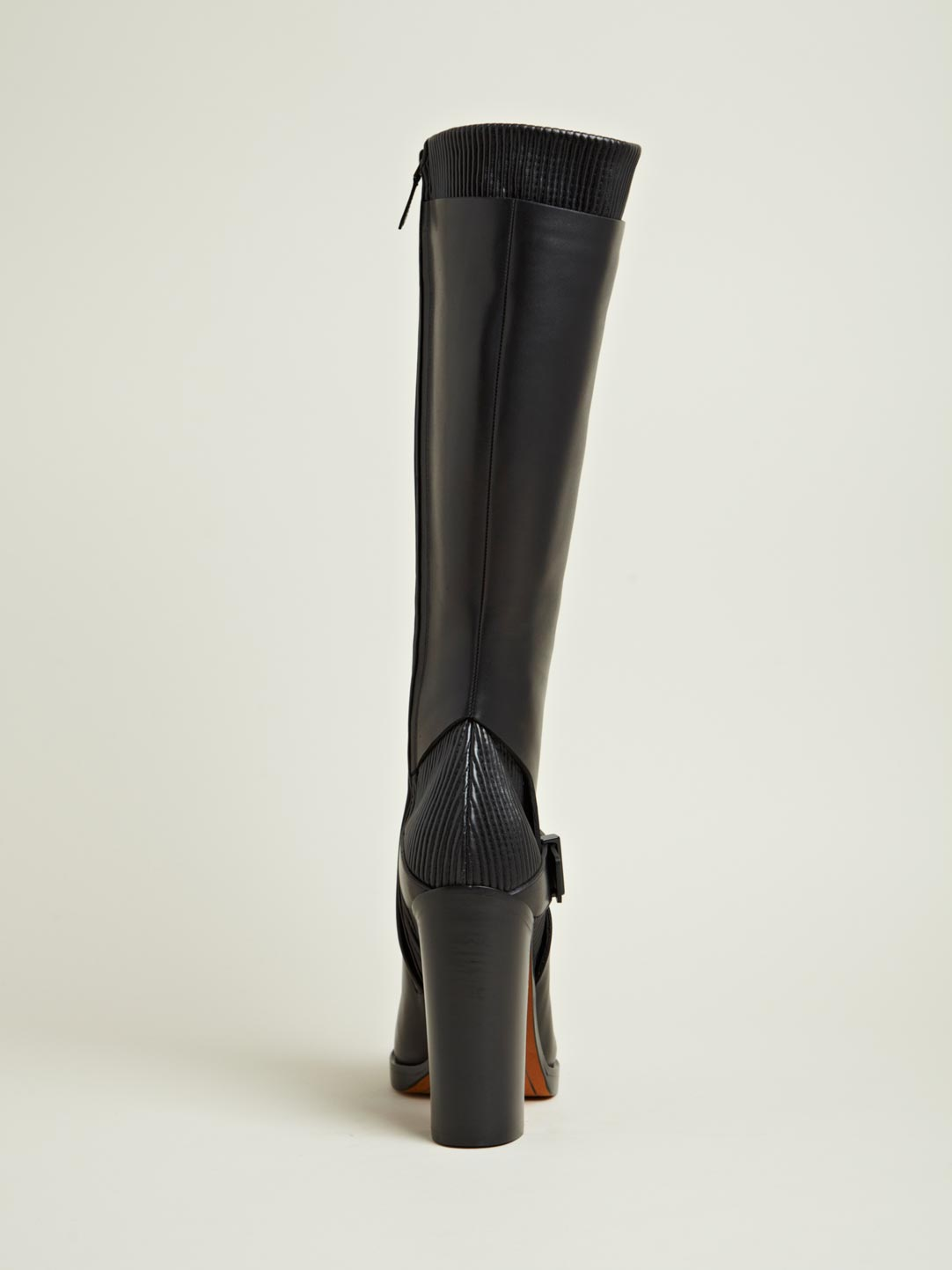 Givenchy Givenchy Womens Calf Leather Heeled Long Boots in Black