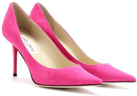 Jimmy Choo Agnes Suede Pumps in Pink (fuschia) - Lyst