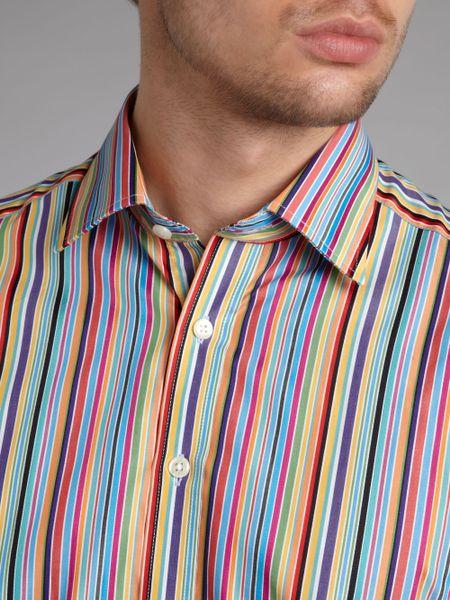 Simon Carter Candy Stripe Long Sleeved Shirt In Multicolor
