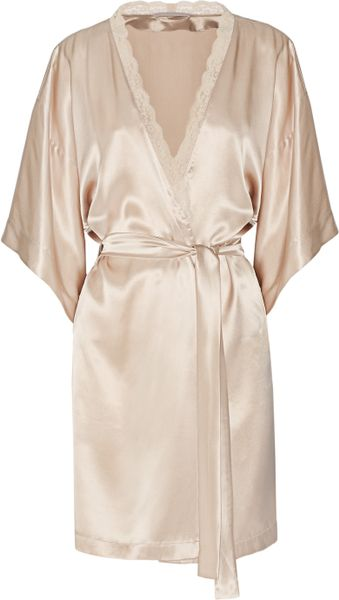 stella mccartney clara whispering silk satin robe in pink blush lyst. Black Bedroom Furniture Sets. Home Design Ideas