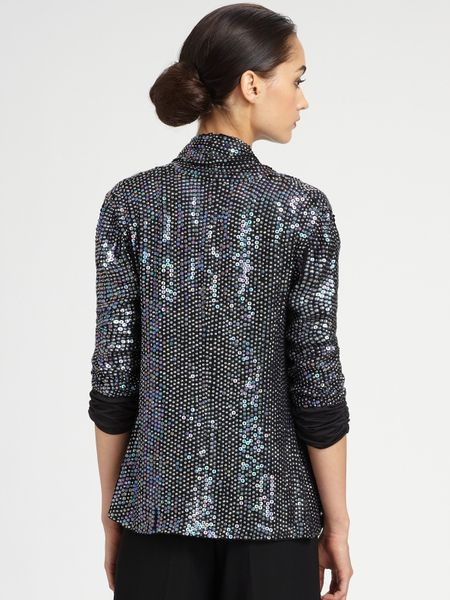 Armani Sequin Jacket in Silver | Lyst