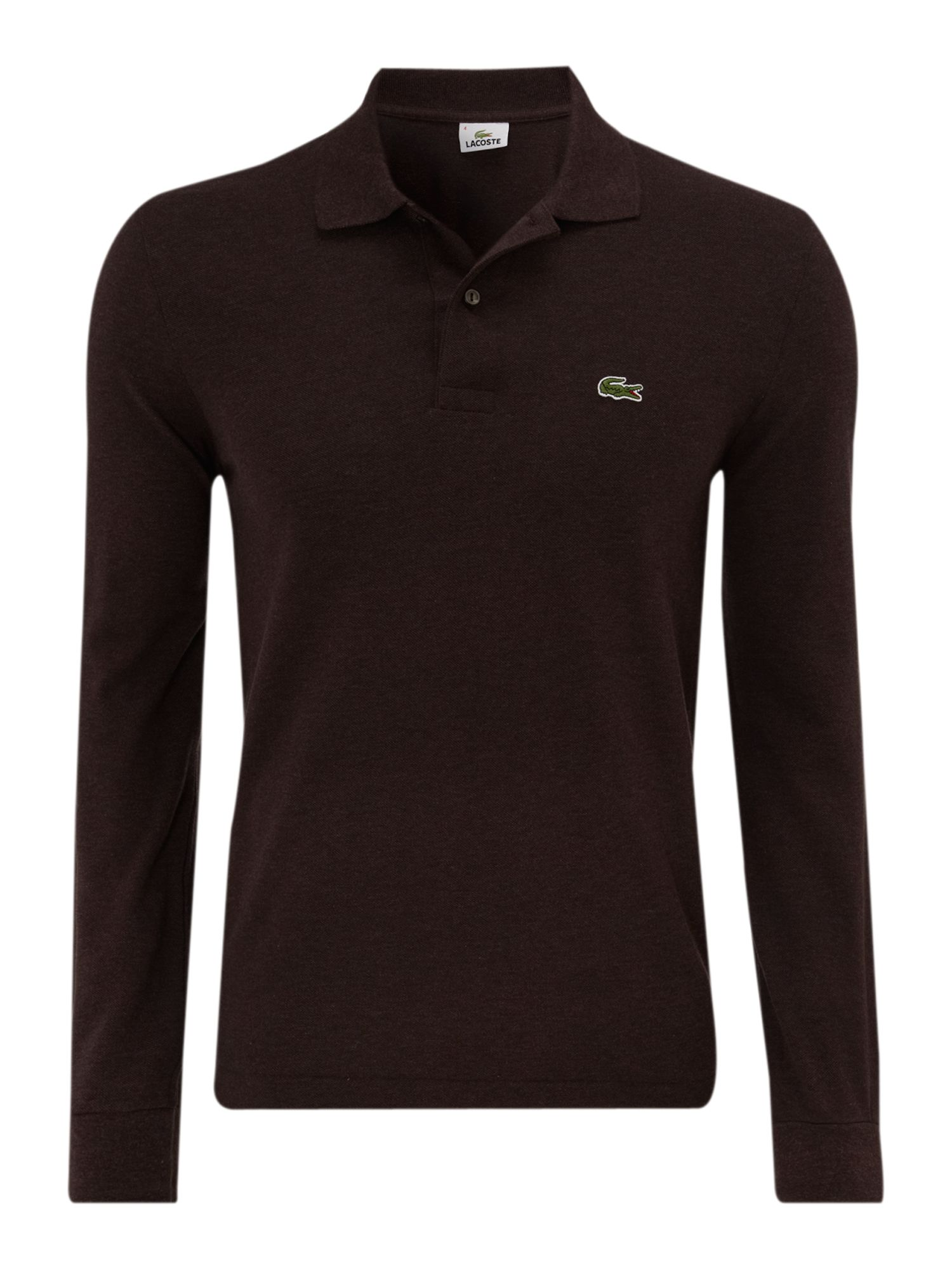 Lyst Lacoste Classic Long Sleeved Marl Polo Shirt In