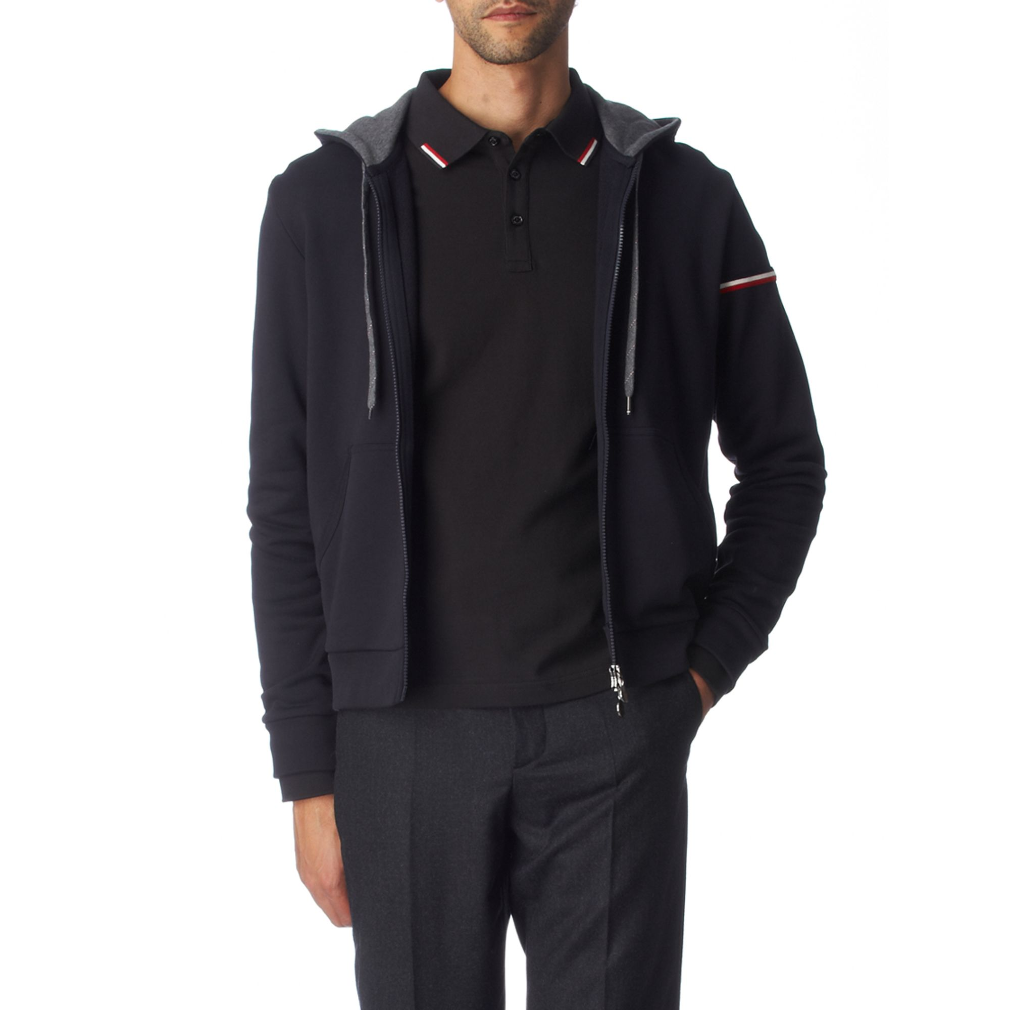 moncler zip hoodie