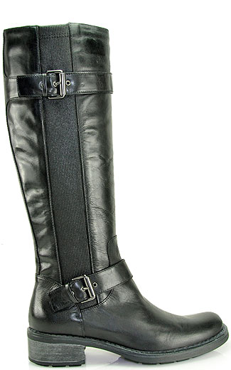Aquatalia Starboot Black Leather Riding Boot in Black | Lyst