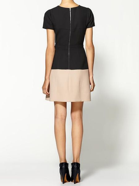 Bcbgmaxazria Hannah Color Blocked Aline Dress in Black (black combo)