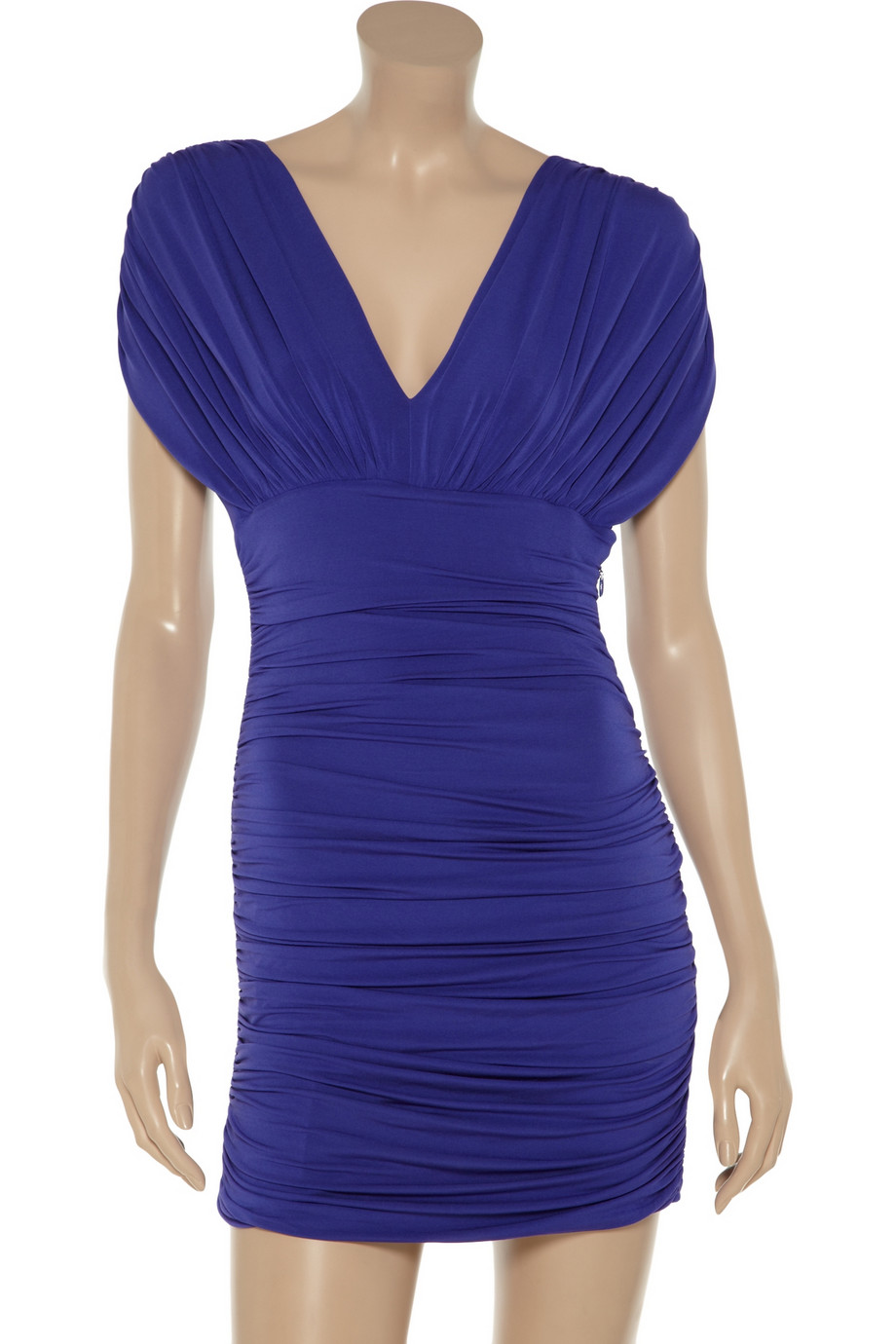 Wedding Ruched bcbgmaxazria nevis ruched jersey dress in blue lyst gallery