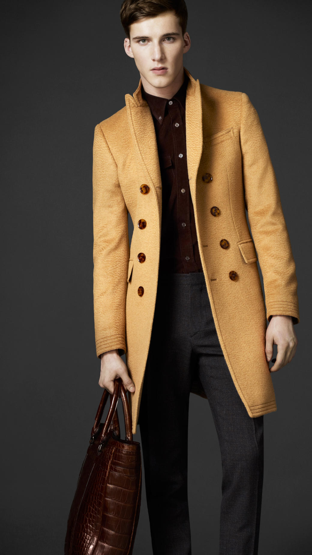Lyst - Burberry Camel Hair Top Coat in Natural for Men 01f8a9ed1eb3