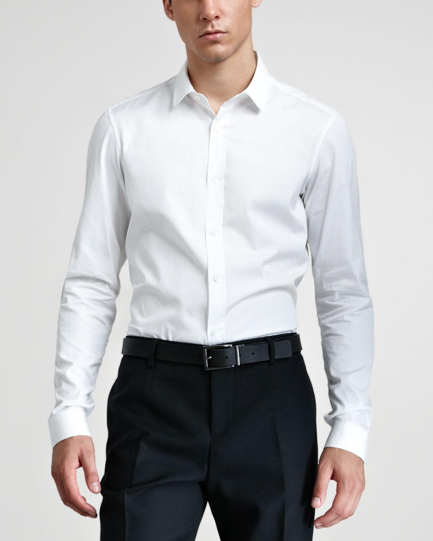 Lyst Burberry Prorsum Dress Shirt Optic White In White For Men