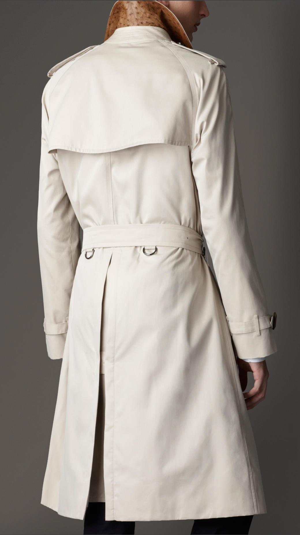 Womens white trench coat