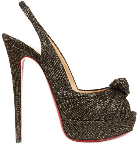 Christian Louboutin 150mm Jenny Glitter Knot Sandals in Brown (bronze) - Lyst