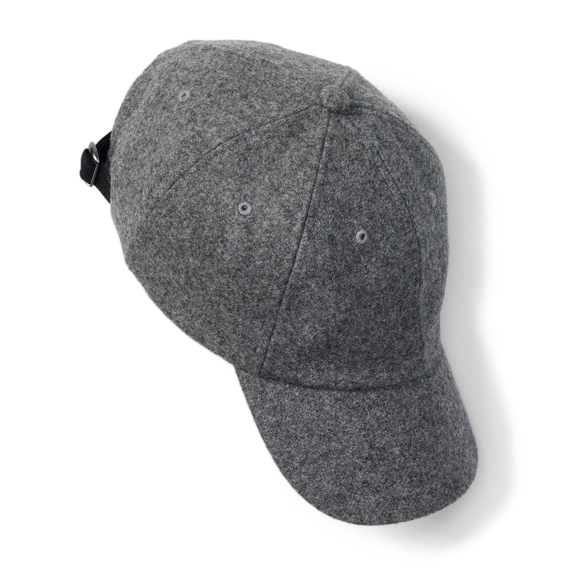 Club Monaco Wool Baseball Cap In Gray For Men Lyst