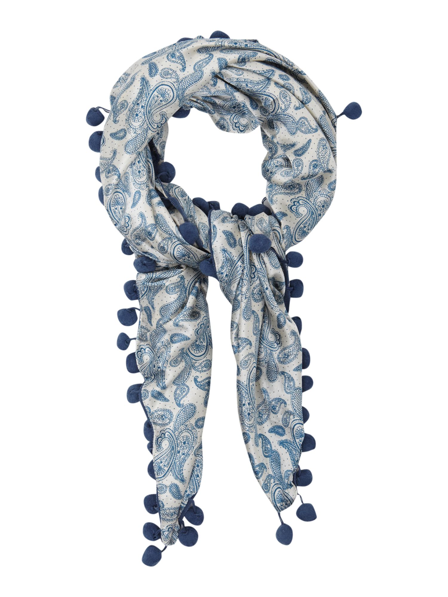 erfurt paisley floral square scarf in blue lyst