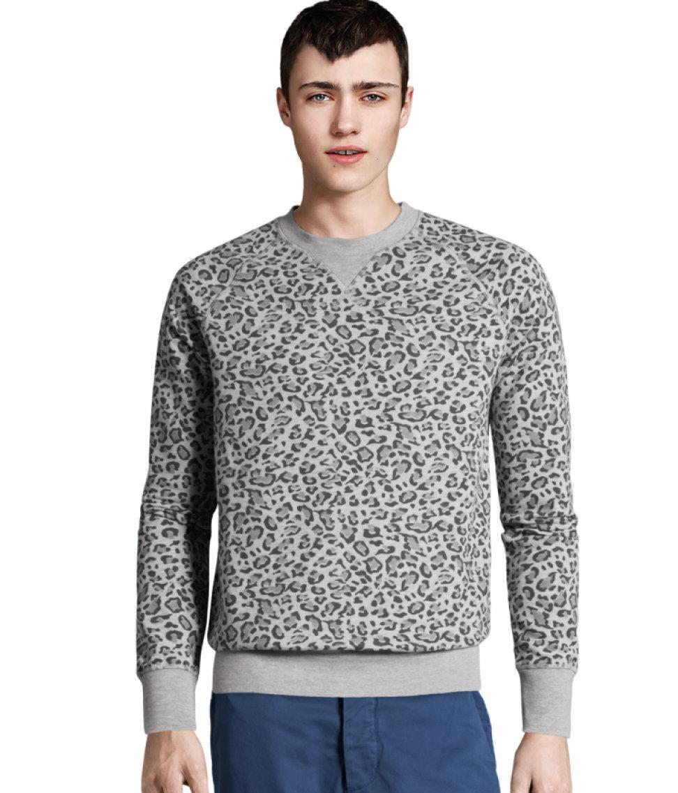 Lyst H M Sweatshirt In Natural For Men