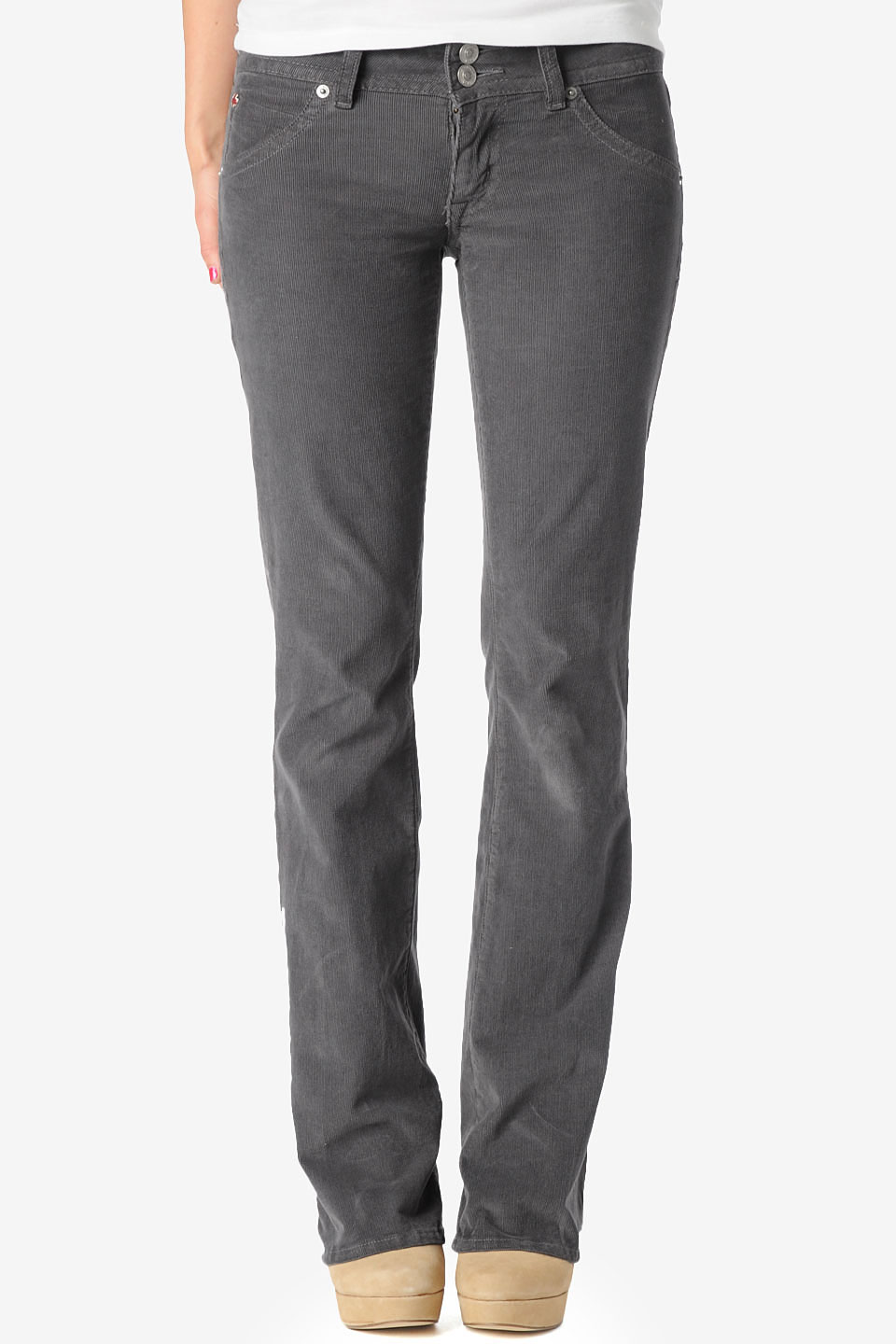 hudson jeans signature bootcut in gray  lyst