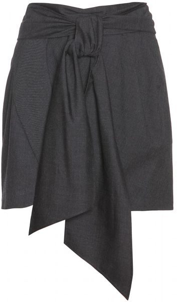Isabel Marant Crocus Wool Mini Skirt in Gray (anthracite)