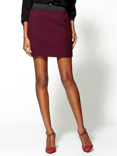 joe s high waisted skirt in purple maroon