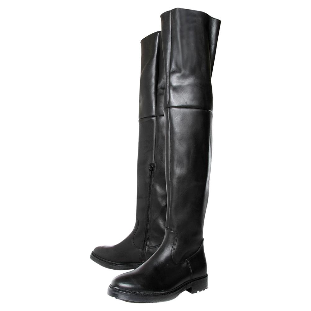 KG by Kurt Geiger Kg By Kurt Geiger Tori Leather Over The Knee Boots Black