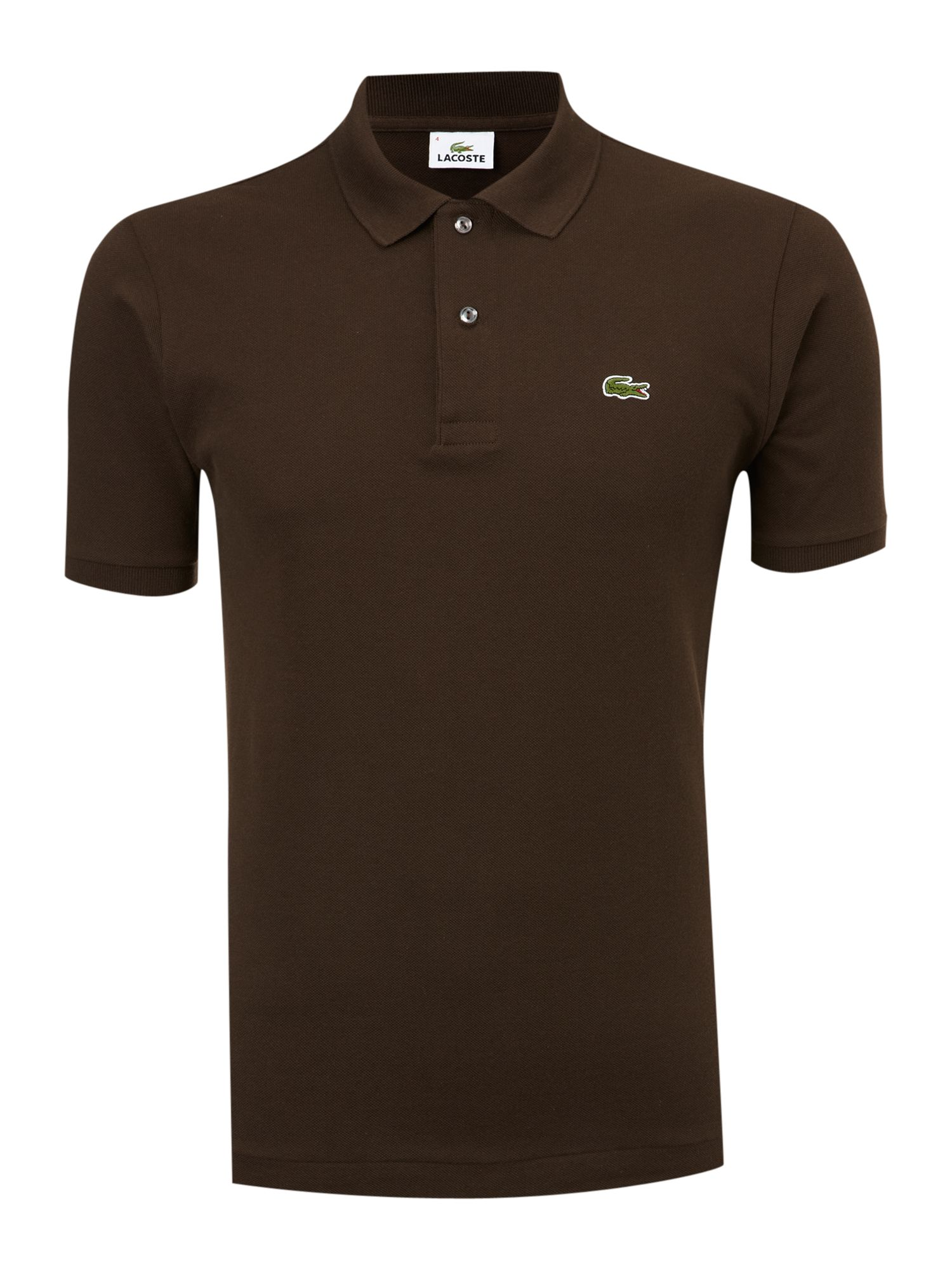 Lacoste Classic Fitted Polo Shirt In Brown For Men Lyst