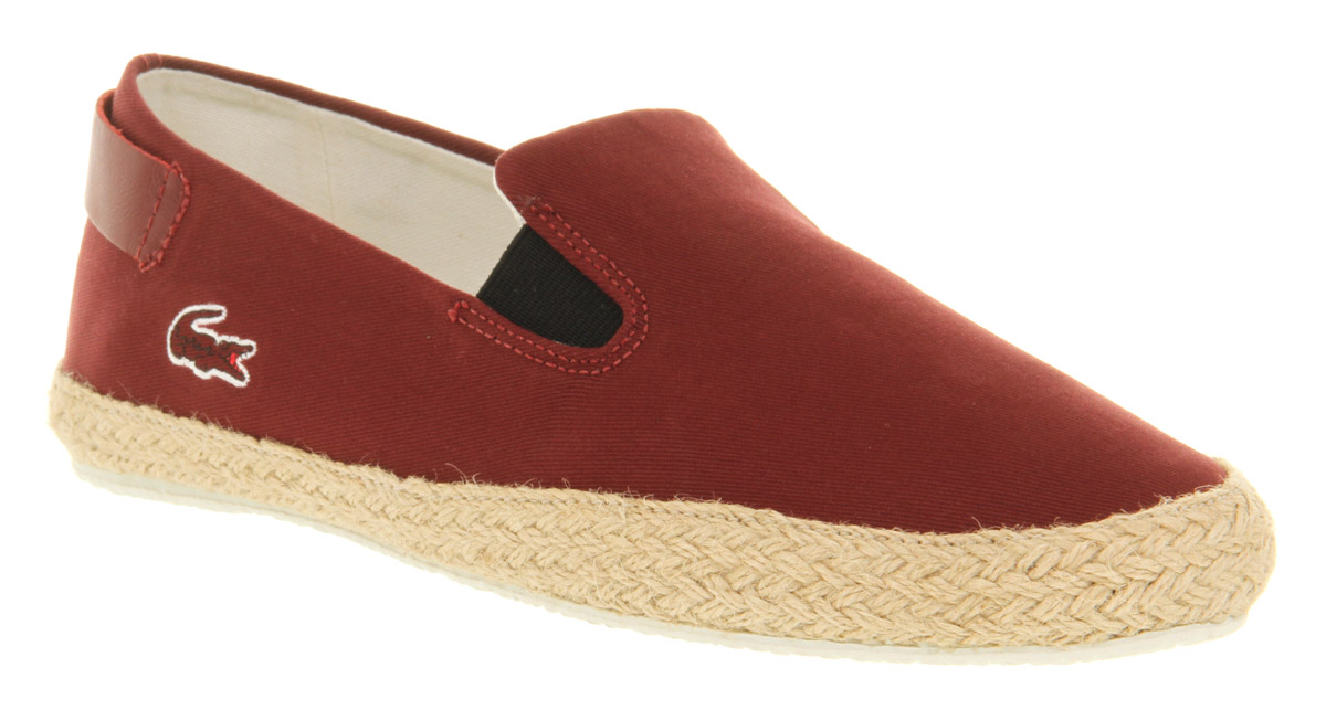 3ce71fe97a83 Lyst - Lacoste Q2 Slip On Espa Brown Canvas in Brown for Men