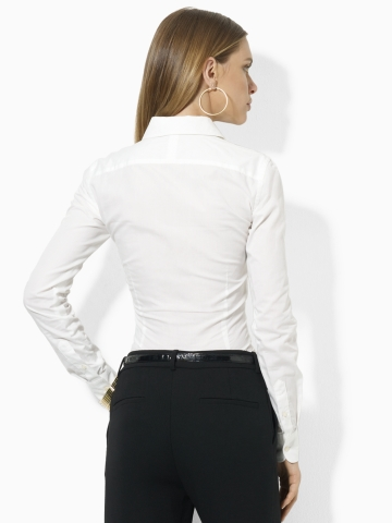 Lauren By Ralph Lauren Mandelle Ruffled Blouse In White Lyst