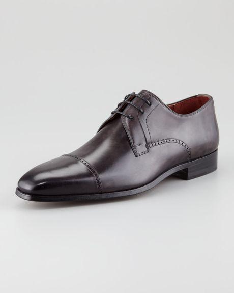 For Neiman Marcus Punch-trim Captoe Shoe in Brown for Men (10