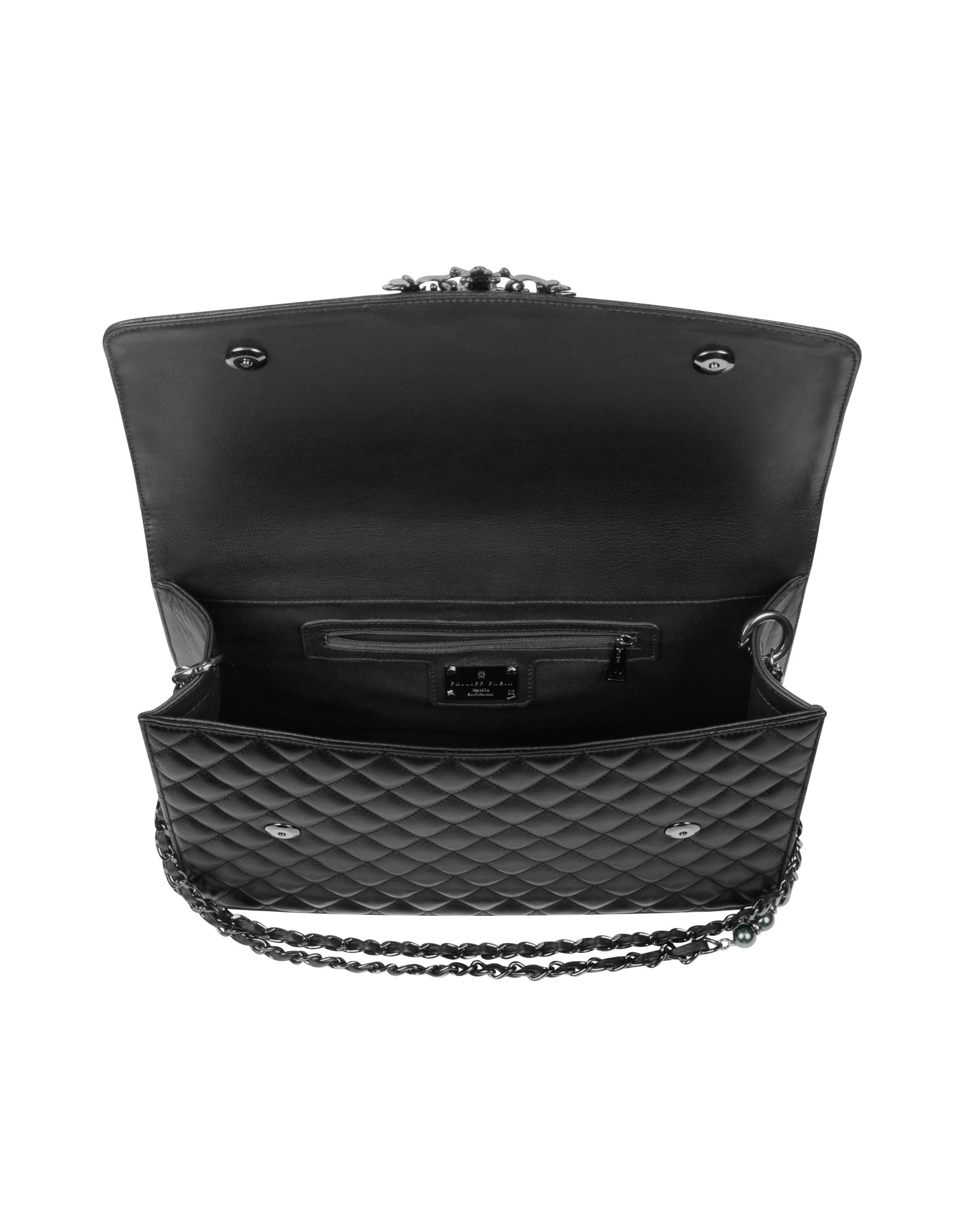 Philipp Plein Mono Quilted Black Leather Shoulder Bag Lyst