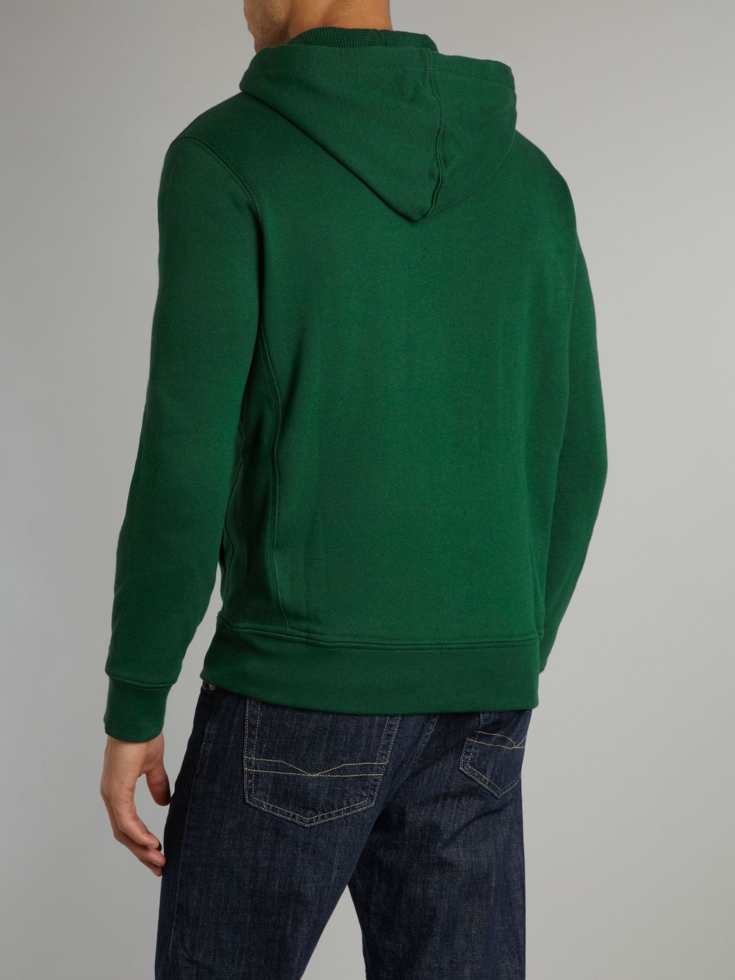2858c7f939b61 Lyst - Polo Ralph Lauren Zip Through Hooded Top in Green for Men