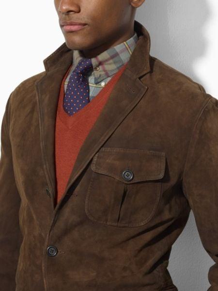 Brown Sports Jacket Suede Sport Coat in Brown