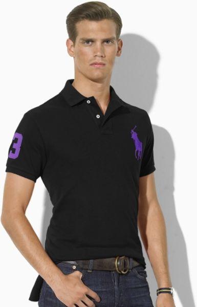 Polo ralph lauren t shirts polo shirts lyst for Black ralph lauren shirt purple horse
