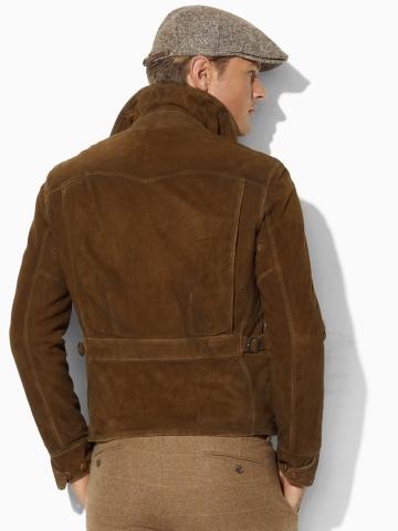 polo ralph lauren suede newsboy jacket in brown for men lyst
