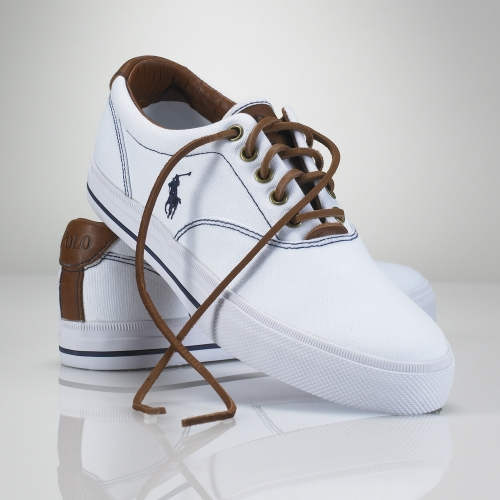 Polo Ralph Lauren Vaughn Canvas Sneaker In White For Men