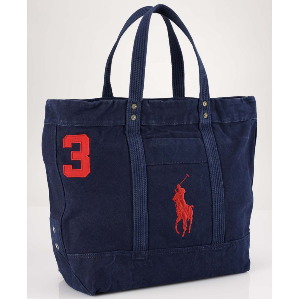 81c0734cbf46 Lyst - Ralph Lauren Big Pony Tote Bag in Blue for Men