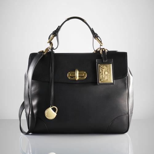 247175f624 Lyst - Ralph Lauren Tiffin Bag in Black