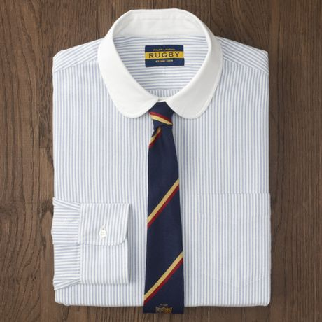 Club Dress on Rugby Club Collar Dress Oxford In Blue For Men  Blue White    Lyst