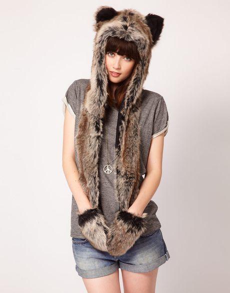 Spirit Hoods Spirithoods Grey Wolf in Brown (grey)