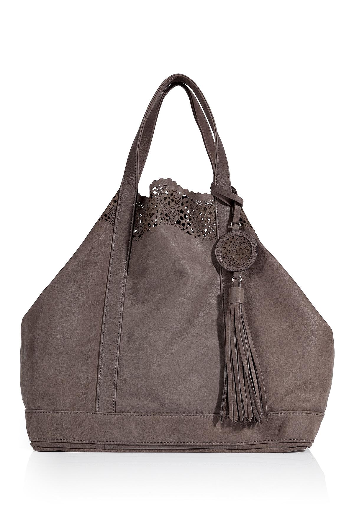 vanessa bruno taupe leather large cabas bag in brown taupe lyst. Black Bedroom Furniture Sets. Home Design Ideas