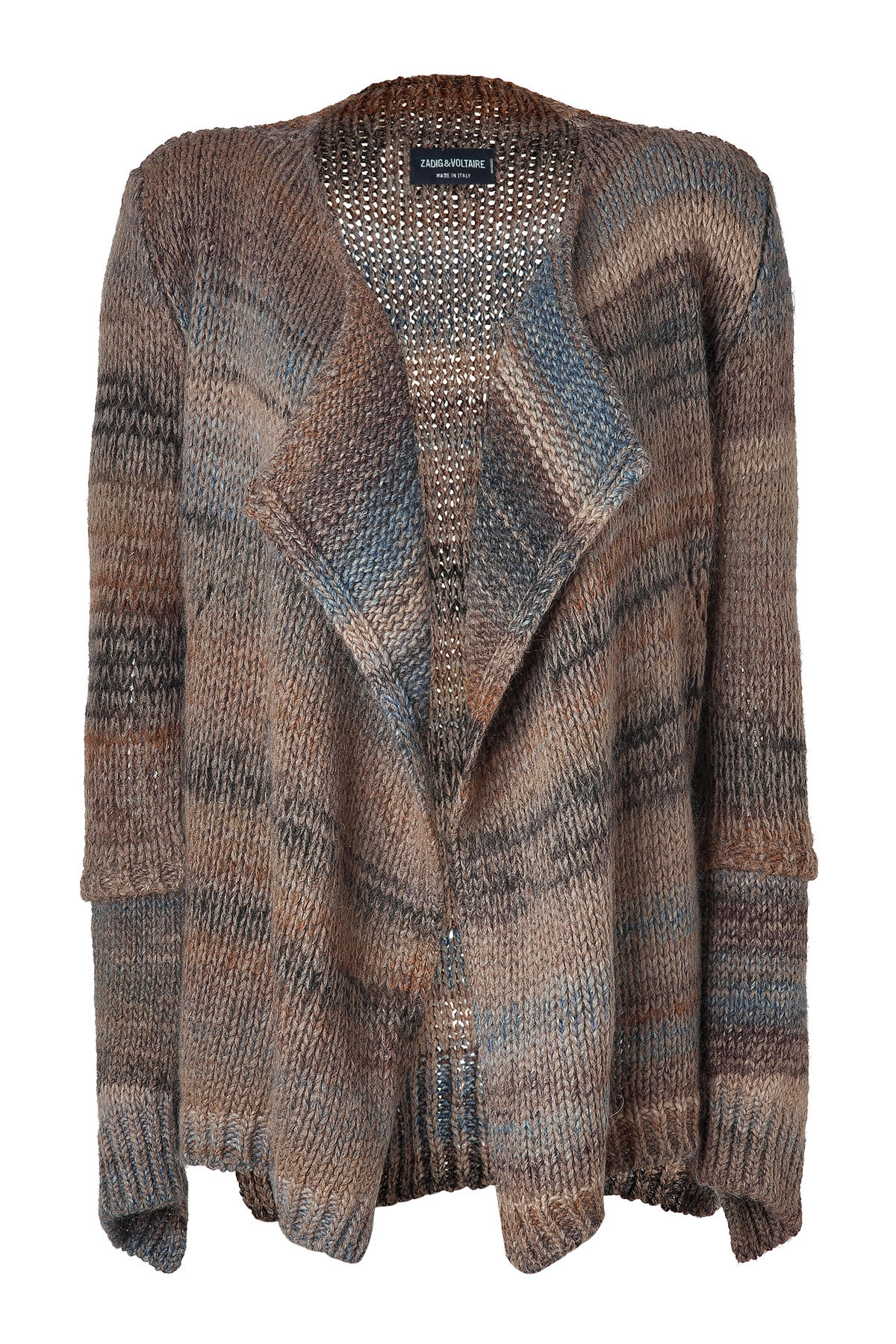 Zadig & voltaire Faded Brown Chunky Knit Open Cardigan in Brown | Lyst
