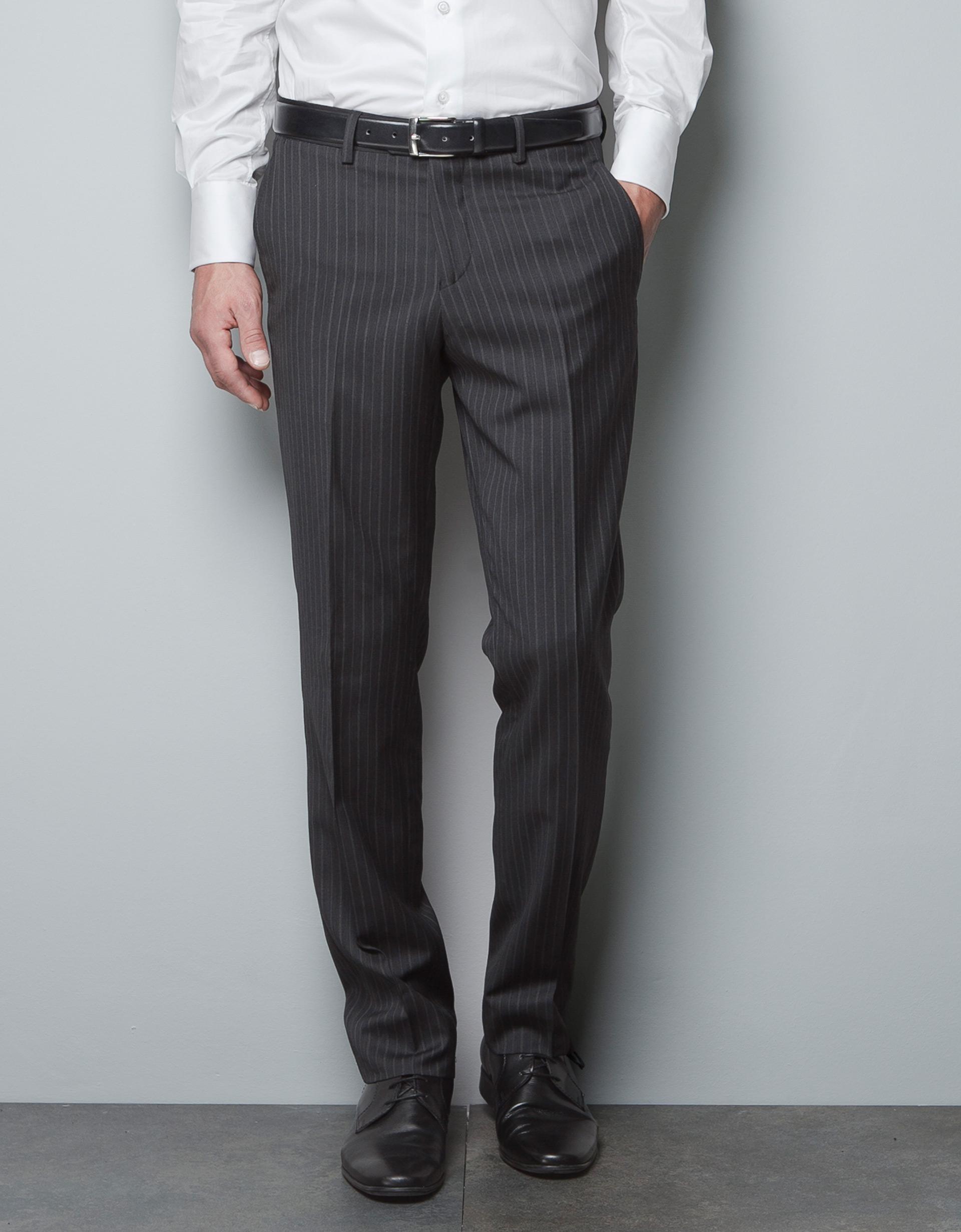 pinstripe pants men - Pi Pants