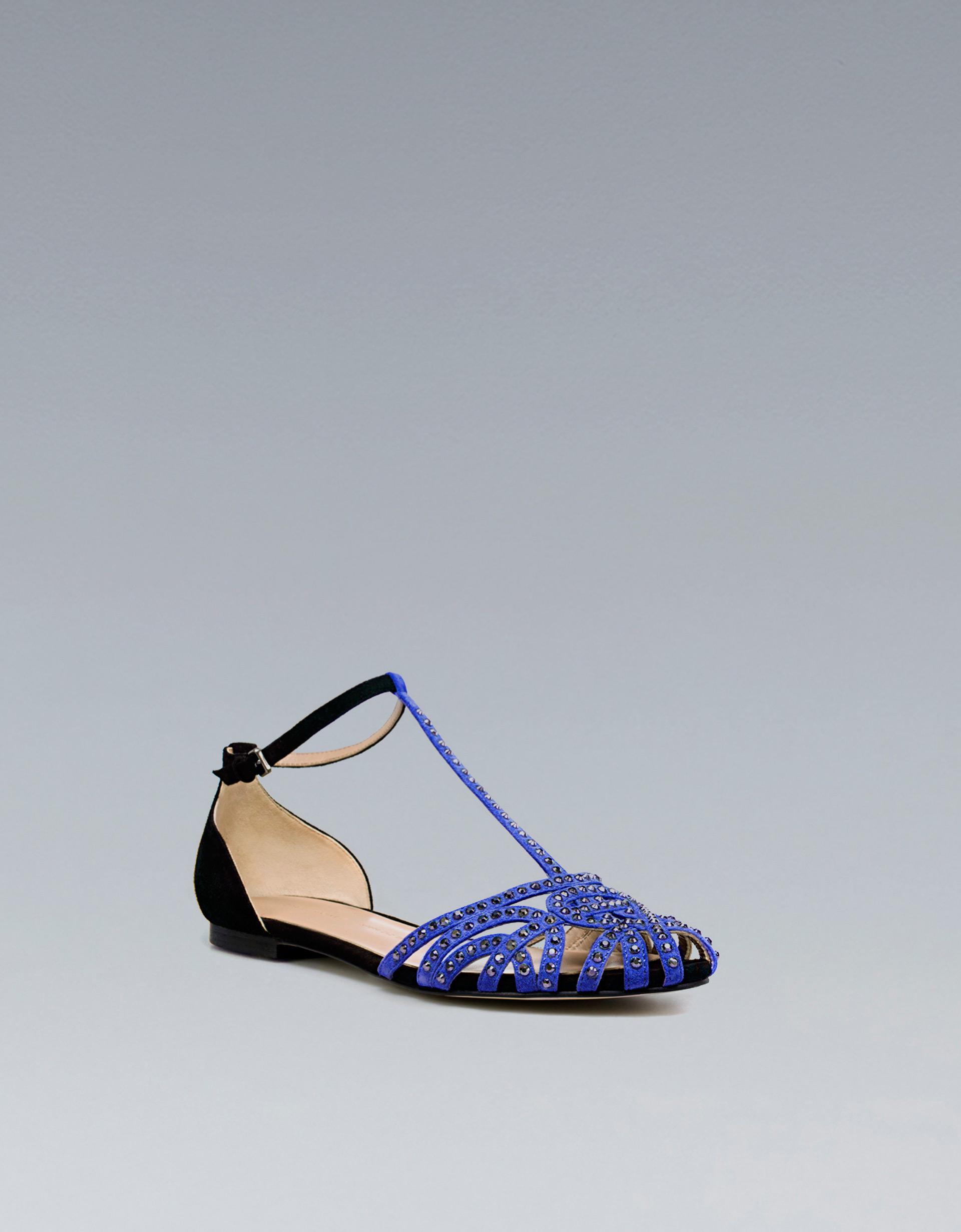 zara flat jelly sandals in black lyst