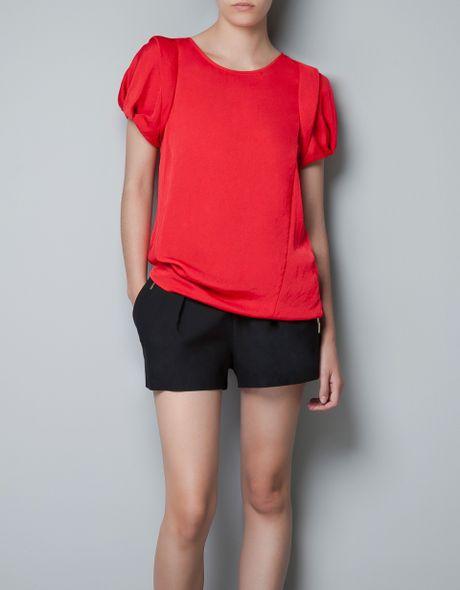 Zara Red Blouse 38