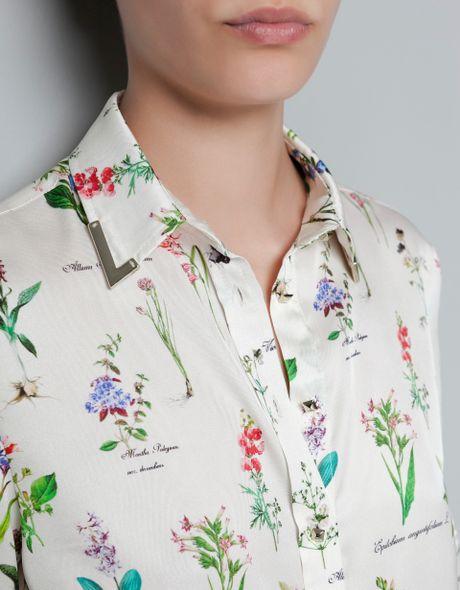 Zara Printed Chiffon Blouse 51
