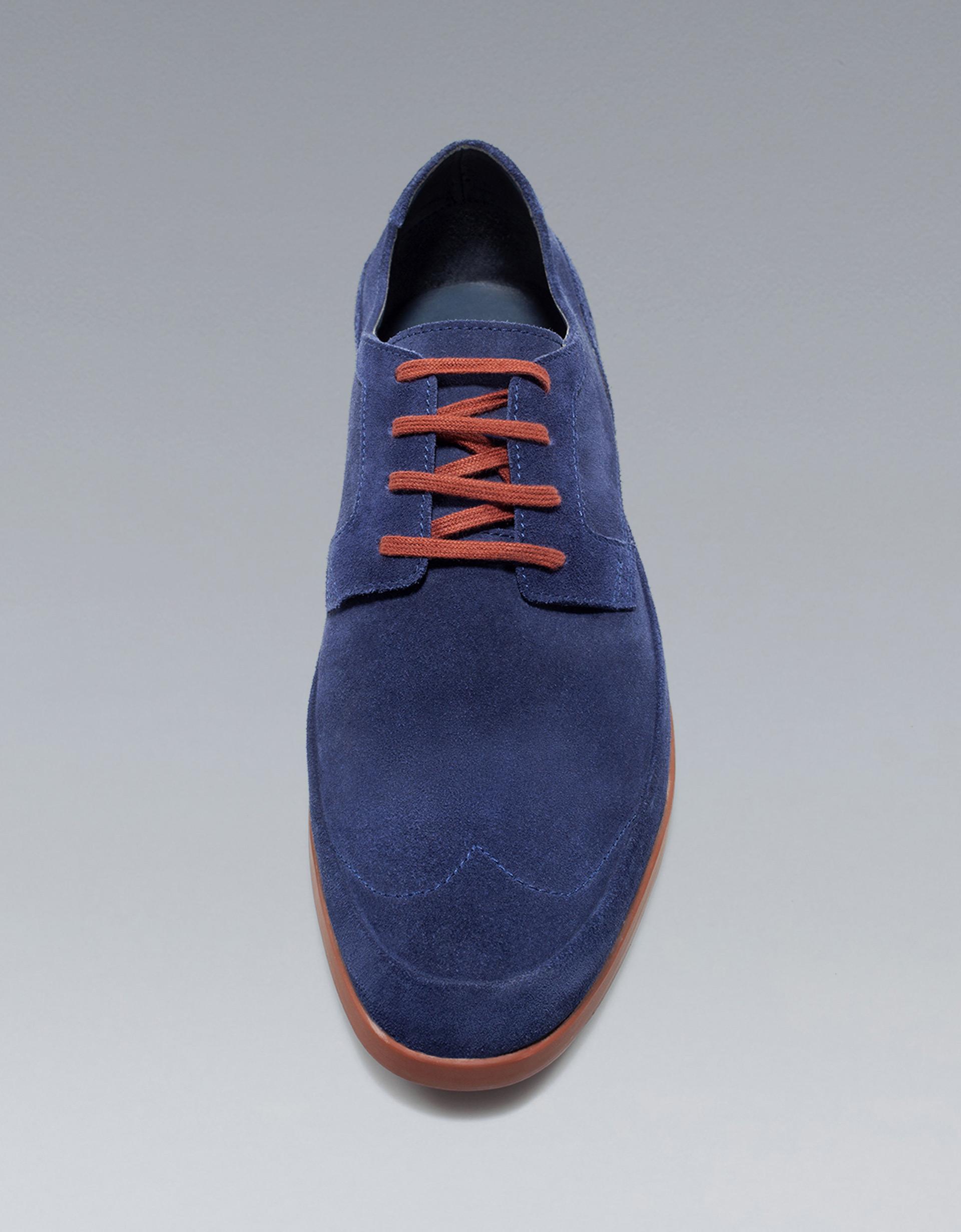 zara formal shoe in blue for lyst