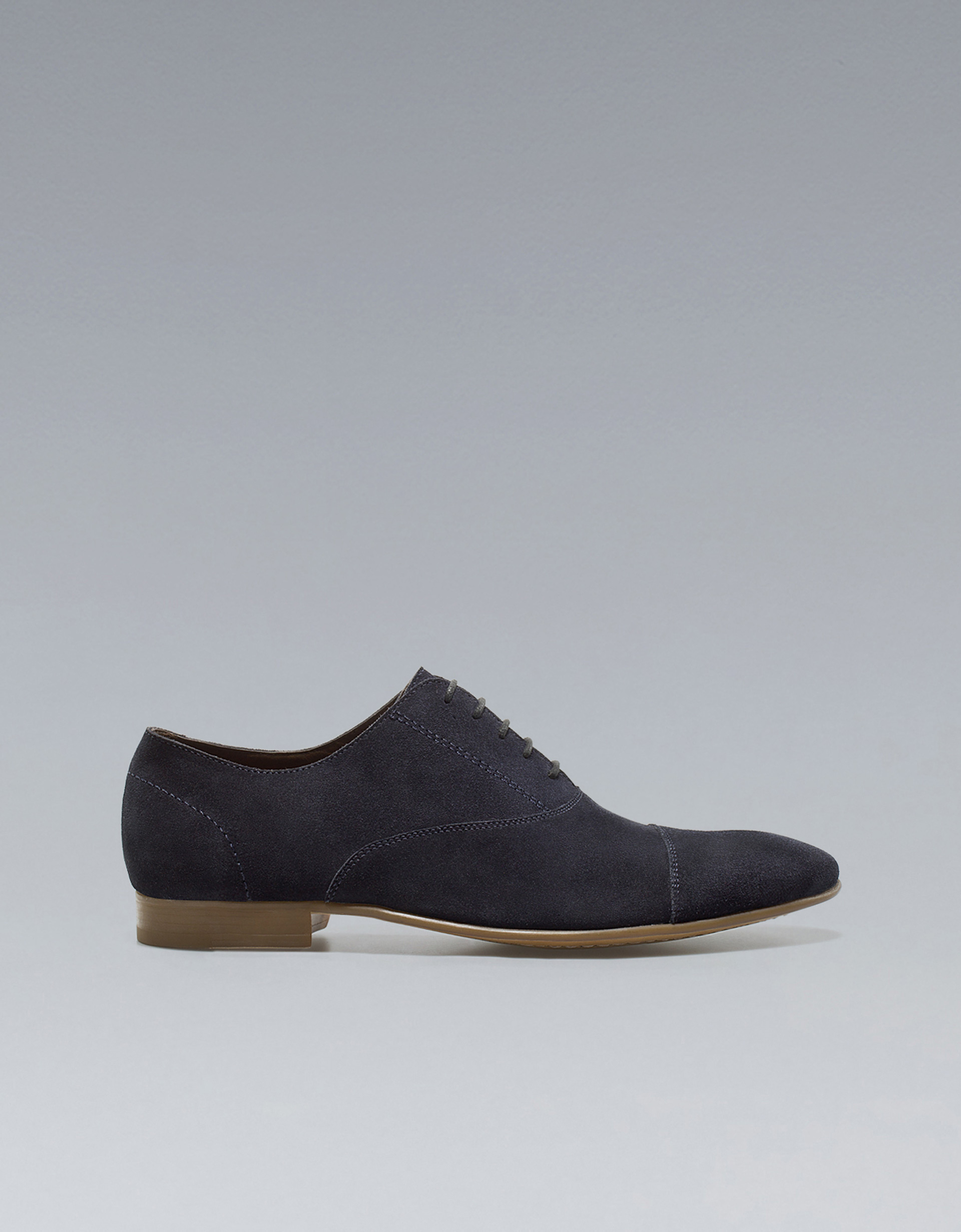 Zara Suede Oxford Shoe In Blue For Men | Lyst