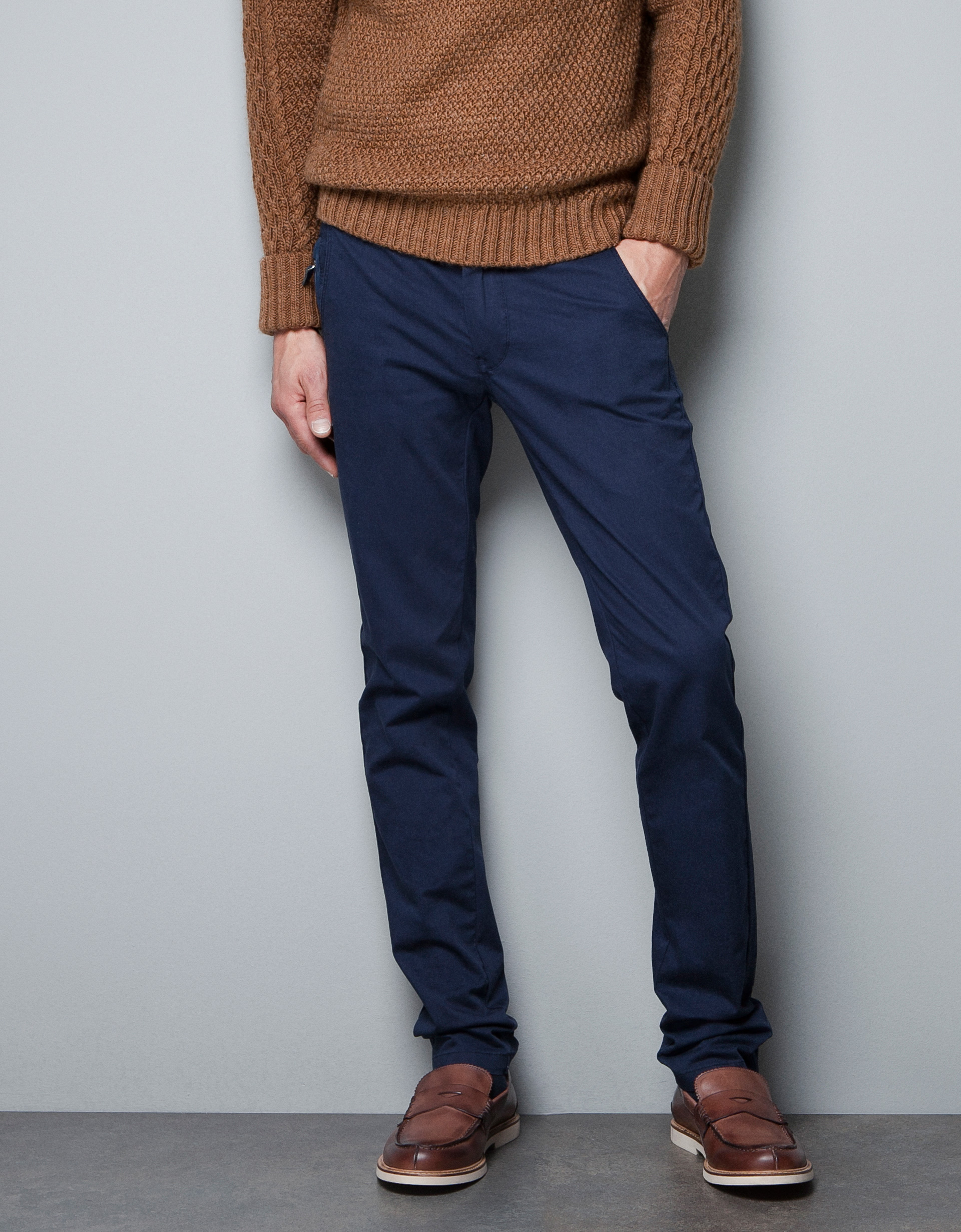 1439 2018 vêtements zara-navy-chinos-wit