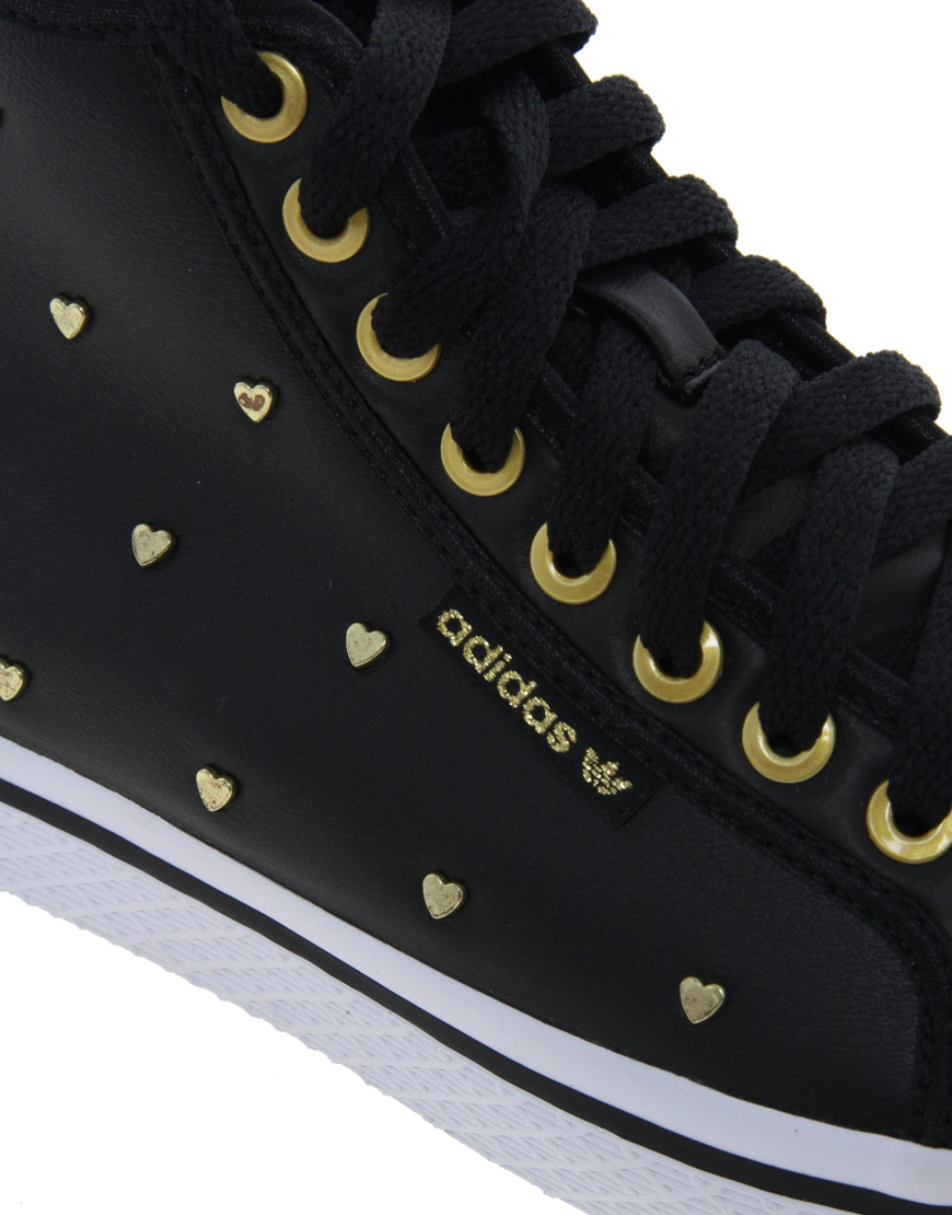 Honey Gold Heart Mid Trainers