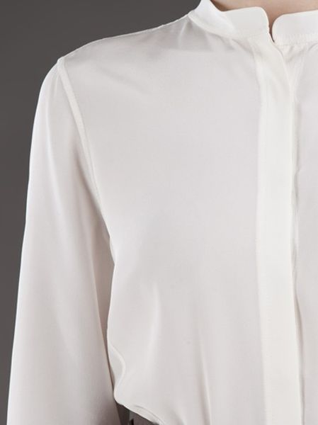 Womens White Crepe Blouse 41