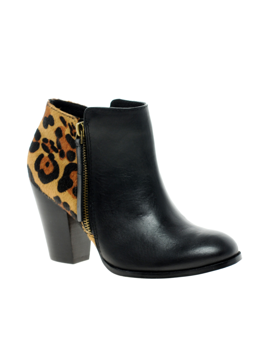 ALDO Cedrina Leopard Ankle Boots in
